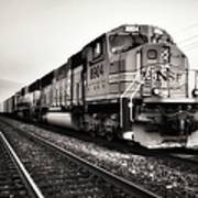 Freight Train Print by Tom Druin