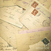 French Correspondence From Ww1 #2 Print by Jan Bickerton