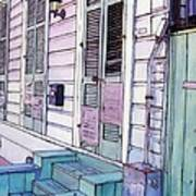 French Quarter Stoop 213 Print by John Boles