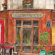 French Storefront 1 Print by Debbie DeWitt