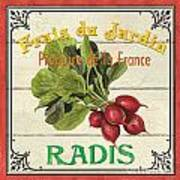French Vegetable Sign 1 Print by Debbie DeWitt