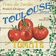 French Veggie Sign 3 Print by Debbie DeWitt