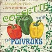 French Veggie Sign 4 Print by Debbie DeWitt