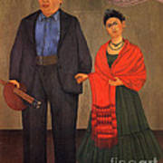 Frida Kahlo And Diego Rivera 1931 Print by Pg Reproductions