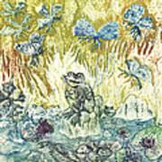 Frogs Print by Milen Litchkov