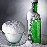 Frozen Bottle Ice Cold Drink Print by Dirk Ercken