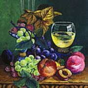 Fruit And Wine Print by Karon Melillo DeVega
