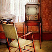 Furniture - Chair - The Invention Of Television  Print by Mike Savad