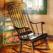 Furniture - Chair - The Rocking Chair Print by Mike Savad