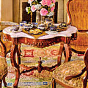 Furniture - Chair - The Tea Party Print by Mike Savad