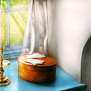 Furniture - Lamp - In The Window  Print by Mike Savad
