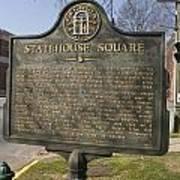 Ga-005-19 Statehouse Square Print by Jason O Watson