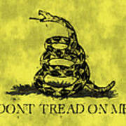 Gadsden Flag - Dont Tread On Me Print by World Art Prints And Designs