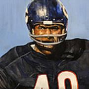 Gale Sayers Print by Michael  Pattison