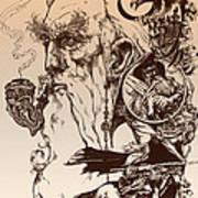 gandalf- Tolkien appreciation Print by Derrick Higgins