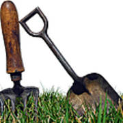 Gardening Tools Print by Olivier Le Queinec