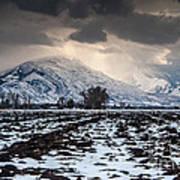 Gathering Winter Storm - Utah Valley Print by Gary Whitton