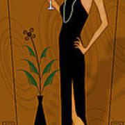 Gatsby Girl Print by Troy Brown