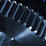 Gears Engineering In Space Print by Christian Lagereek