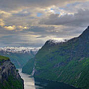 Geirangerfjord Sunset Print by Benjamin Reed