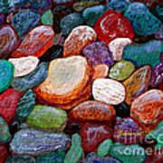 Gemstones Print by Barbara Griffin