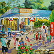 General Store After July 4th Parade Print by Jan Mecklenburg