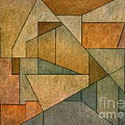 Geometric Abstraction Iv Print by David Gordon