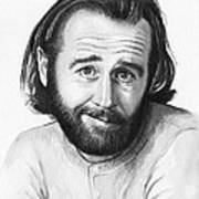 George Carlin Portrait Print by Olga Shvartsur
