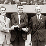 George Sisler Babe Ruth Ty Cobb Print by Unknown