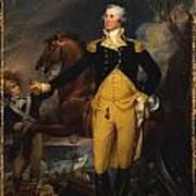 George Washington Before The Battle Of Trenton Print by John Trumbull