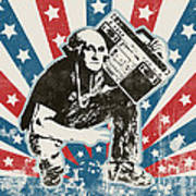 George Washington - Boombox Print by Pixel Chimp