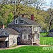 George Washington Headquarters At Valley Forge Print by Olivier Le Queinec