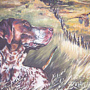 German Shorthaired Pointer And Pheasants Print by Lee Ann Shepard