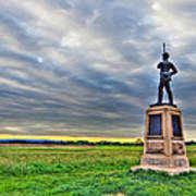 Gettysburg Battlefield Soldier Never Rests Print by Andres Leon