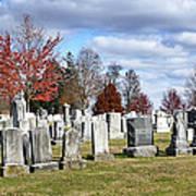 Gettysburg National Cemetery Print by Brendan Reals