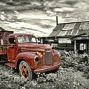 Ghost Town Truck Print by Robert Jensen
