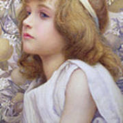 Girl With Apple Blossom Print by Henry Ryland