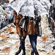 Girlfriends Print by Emerico Imre Toth