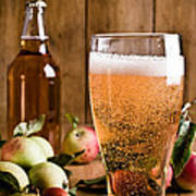 Glass Of Cyder Print by Amanda And Christopher Elwell