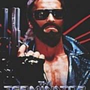 God's Terminator Print by Jessie J De La Portillo