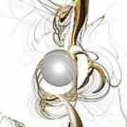 Gold And Pearl Print by Anastasiya Malakhova