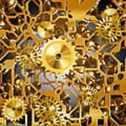 Gold Time.  Print by Tautvydas Davainis
