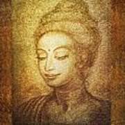 Golden Buddha Print by Ananda Vdovic