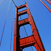 Golden Gate Tower Print by Rona Black