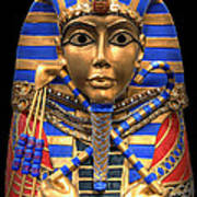Golden Inner Sarcophagus Of A Pharaoh Print by Daniel Hagerman