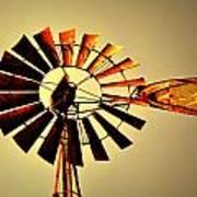 Golden Light Windmill Print by Marty Koch