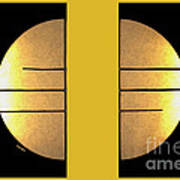 Golden Sun Diptych Print by Cheryl Young