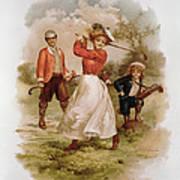 Golfing Print by Ellen Hattie Clapsaddle