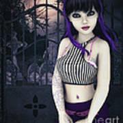 Gothic Temptation Print by Jutta Maria Pusl