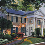 Graceland Home Of Elvis Print by Cecilia Brendel